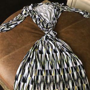 Calvin Klein maxi wrap dress